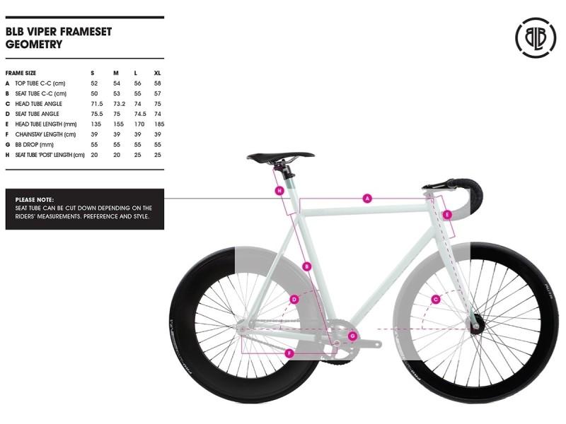 Cuadro Bicicleta Fixie BLB Viper